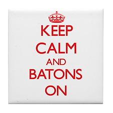 Keep Calm and Batons ON Tile Coaster