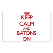 Keep Calm and Batons ON Decal