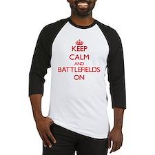 Keep Calm and Battlefields ON Baseball Jersey