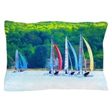 Colorful Sailboats Pillow Case