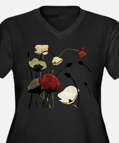 Poppies Plus Size T-Shirt