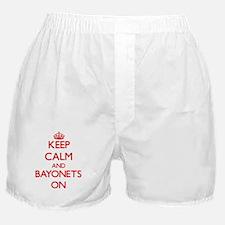 Keep Calm and Bayonets ON Boxer Shorts