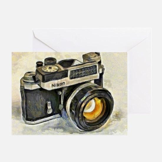 Vintage SLR camera with selenium met Greeting Card
