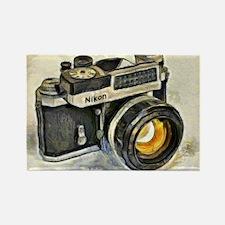 Vintage SLR camera with selenium  Rectangle Magnet