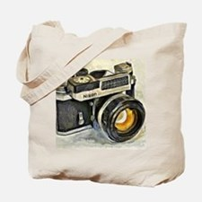 Vintage SLR camera with selenium meter Tote Bag