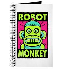 Retro Robot Monkey Journal