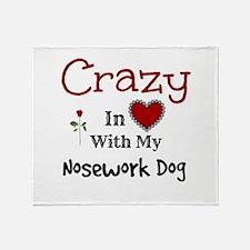 Nosework Dog Throw Blanket