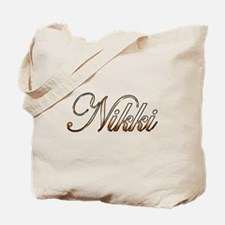 Gold Nikki Tote Bag