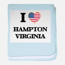 I love Hampton Virginia baby blanket