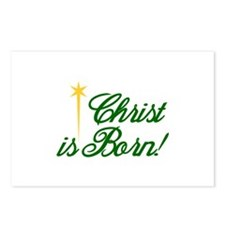 Christ is Born Postcards (Package of 8)