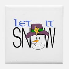 Let It Snow Tile Coaster