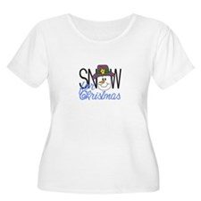 Snow For Christmas Plus Size T-Shirt