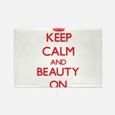 Keep Calm and Beauty ON Magnets