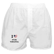 I love Ivor Virginia Boxer Shorts