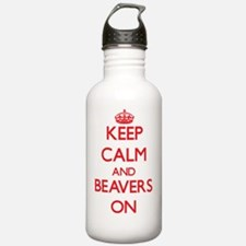 Keep Calm and Beavers Water Bottle