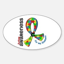 For My Students Autism Sticker (Oval)