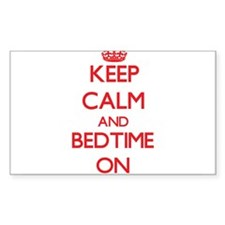 Keep Calm and Bedtime ON Decal