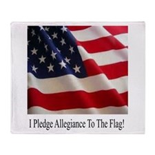 I Pledge Allegiance Throw Blanket