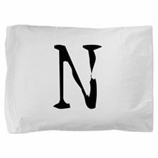 Acoustic Monogram N Pillow Sham