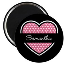 Black Pink Heart Smoke Pipe Pattern Magnet