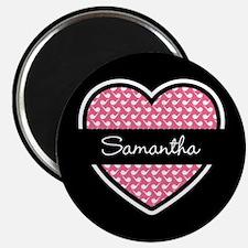 Black Pink Heart Smoke Pipe Pattern Magnet