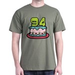 94 Year Old Birthday Cake Dark T-Shirt