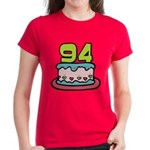 94 Year Old Birthday Cake Women's Dark T-Shirt