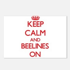 Keep Calm and Beelines ON Postcards (Package of 8)