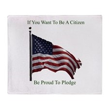 Want To Be A Citizen Throw Blanket