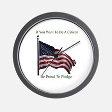 Want To Be A Citizen Wall Clock