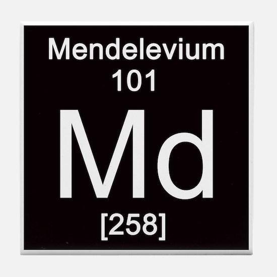 101. Mendelevium Tile Coaster