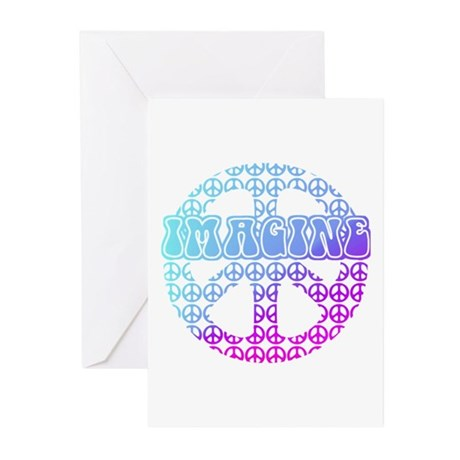 Imagine Peace Signs Greeting Cards (Pk of 20)