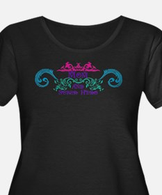 Mom and Super Hero Plus Size T-Shirt