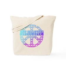 Imagine Peace Signs Tote Bag