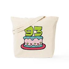 93 Year Old Birthday Cake Tote Bag