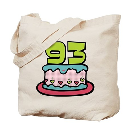 93 Year Old Birthday Cake Tote Bag