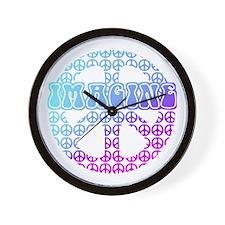 Imagine Peace Signs Wall Clock