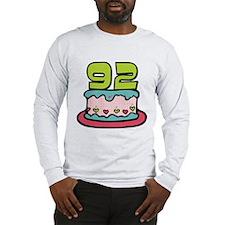92 Year Old Birthday Cake Long Sleeve T-Shirt