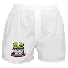92 Year Old Birthday Cake Boxer Shorts