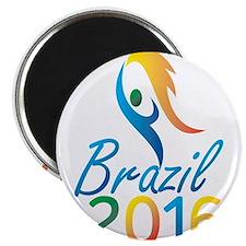 Brasil 2016 Summer Games Flaming Torch Magnets