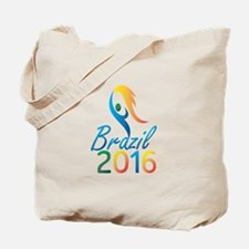 Brasil 2016 Summer Games Flaming Torch Tote Bag