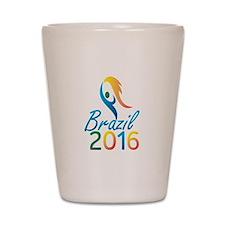 Brasil 2016 Summer Games Flaming Torch Shot Glass