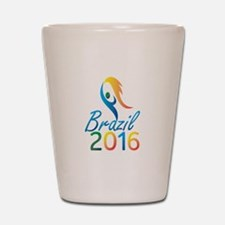 Brasil 2016 Summer Games Flaming Torch Shot Glass