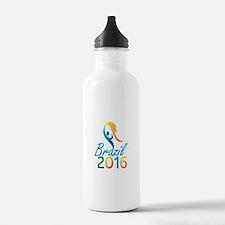 Brasil 2016 Summer Games Flaming Torch Water Bottl