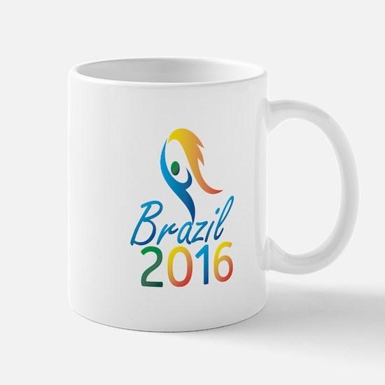Brasil 2016 Summer Games Flaming Torch Mugs
