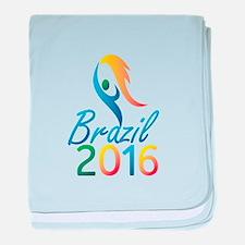 Brasil 2016 Summer Games Flaming Torch baby blanke