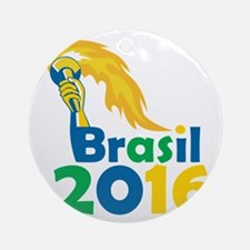 Brasil 2016 Summer Games Athlete Hand Torch Orname