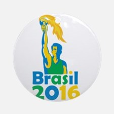 Brasil 2016 Summer Games Athlete Torch Ornament (R