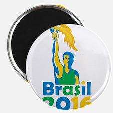 Brasil 2016 Summer Games Athlete Torch Magnets