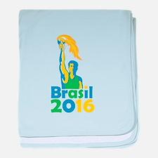 Brasil 2016 Summer Games Athlete Torch baby blanke
